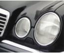 MB W 210 E-Klasse kromsarg för strålkastare.