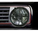 VW Golf II typ19E svarta klarglas strålkastare